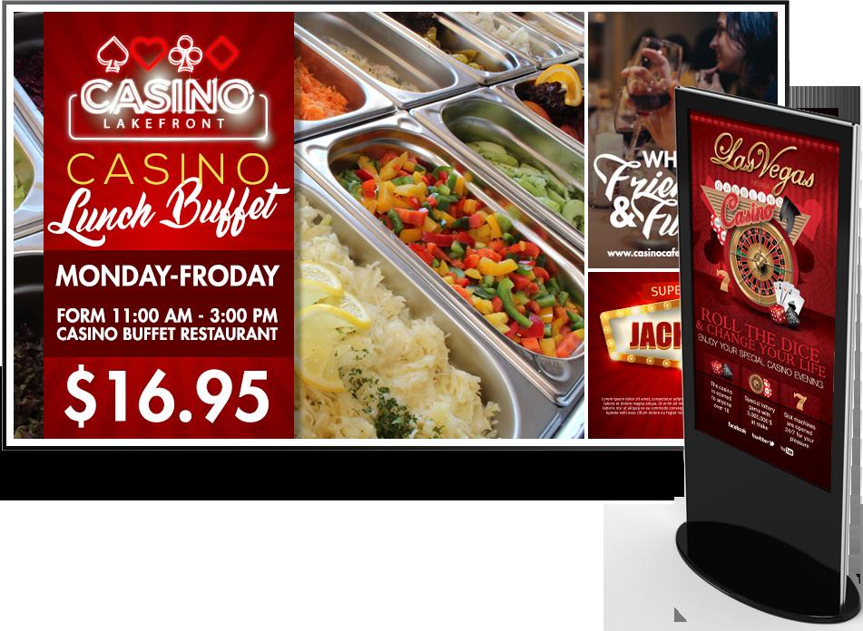 casino gaming digital signage
