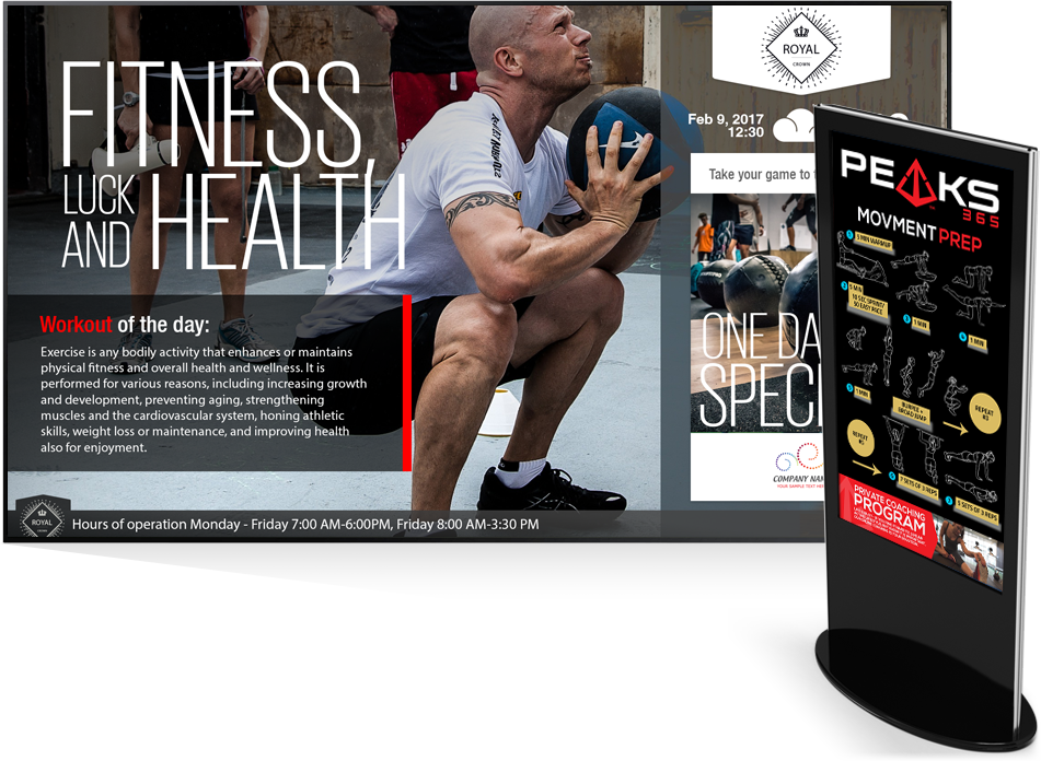 fitness wellness digital signage