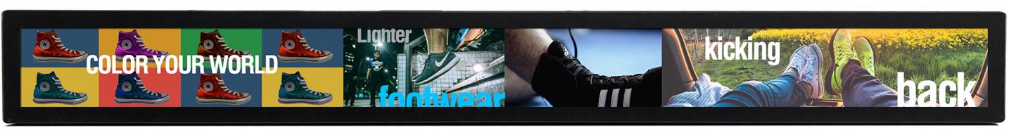merchandising video displays digital signage