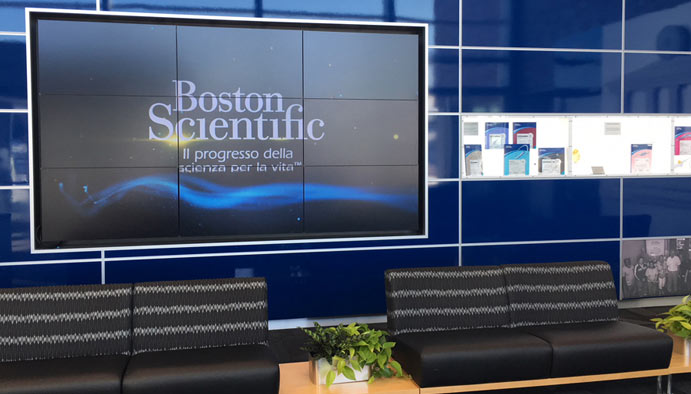 Boston Scientific video wall